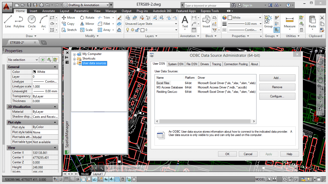 Import coordinates from Excel to AutoCAD