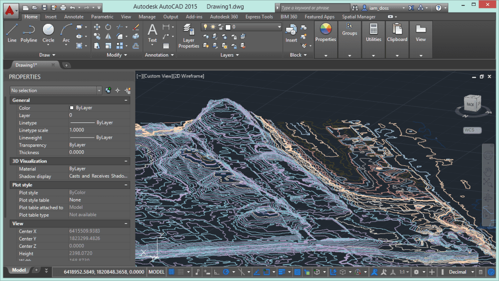Import Z-Contours from a Shapefile into AutoCAD