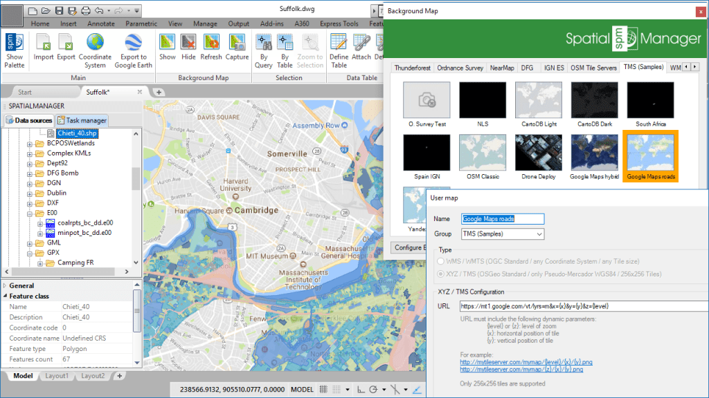 'Spatial Manager' User Dynamic Maps: Google Maps