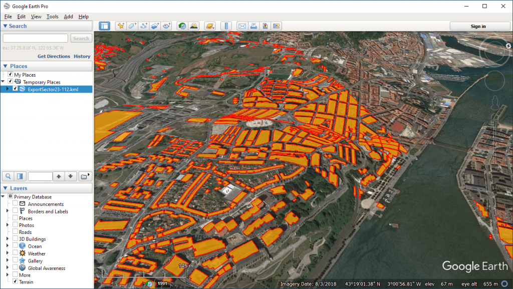 Open resulting Exported KML/KMZ in Google Earth