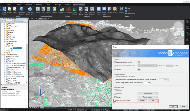 Applying Maps or Raster images over Terrains in Spatial Manager