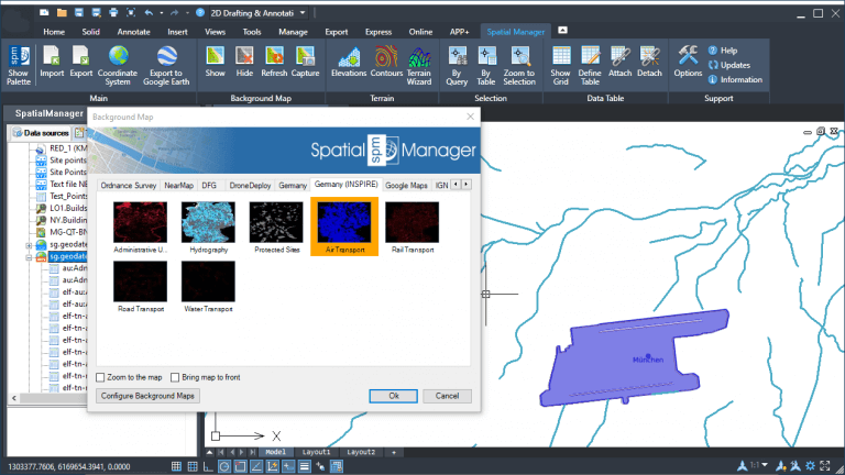 Merging WFS and WMS spatial data in 'Spatial Manager'